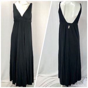 Gypsy 05 Black Maxi Dress Comfy Casual XS